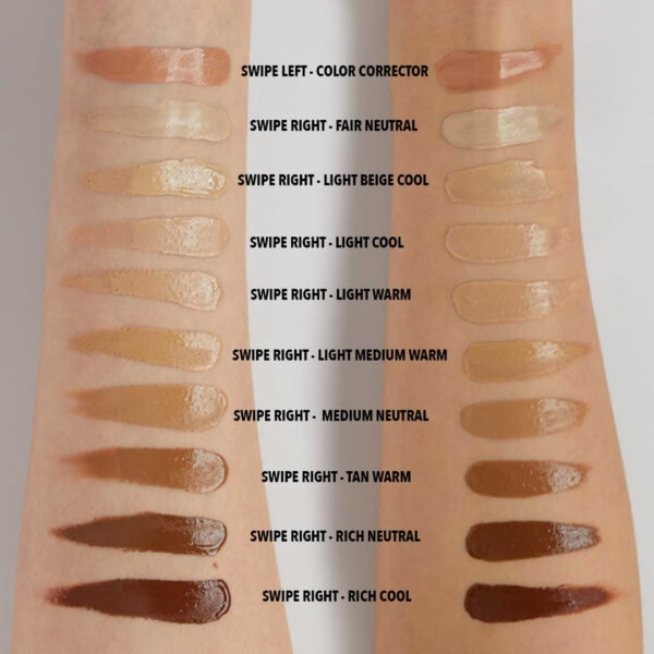 Arm Swatches Light Tones